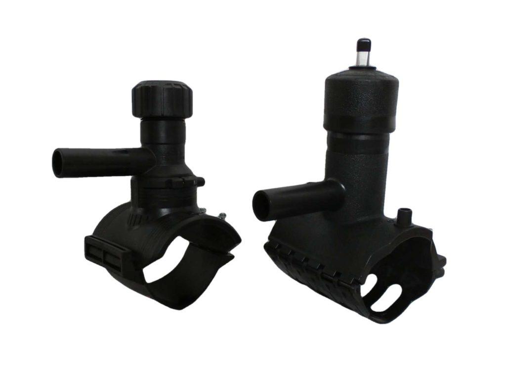 Navrtávací odbočkový T-kus s ventilem, bez ventilu